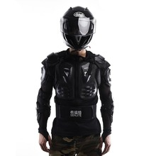 New Professional Motorcycle Protection Motocross Racing Full Body Armor Spine Chest Protective Jacket Gear Black(China (Mainland))
