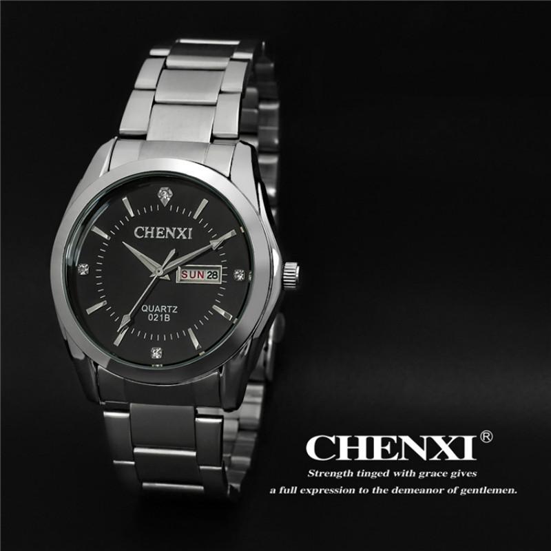 Top Brand CHENXI Business Watches Full Steel Analog-digital Quartz Watch Fashion Men Military Waterproof Watches with Calendar<br><br>Aliexpress