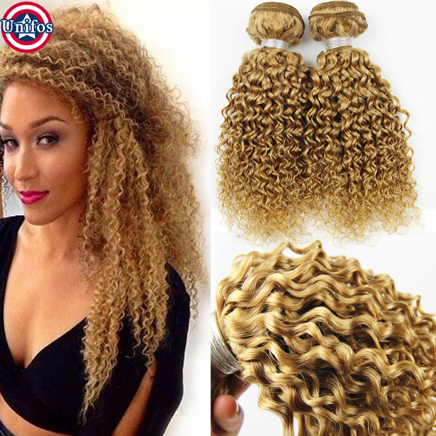 Blonde Kinky Curly Hair Weave Hair Extensions Richardson