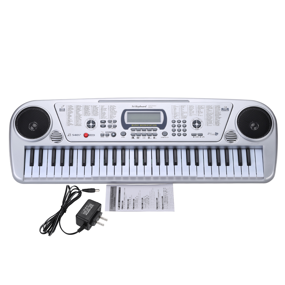 "54 Keys Electone 24"" Multifunctional LCD Electronic Keyboard Musical Toy with Microphone for Children Music Instrument Toy Gifts(China (Mainland))"