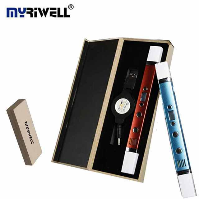 5V2A USB Зарядка 3D Ручка Оригинальный Myriwell 3-го Поколения многофункциональный 3D Магия Ручки Добавить 1.75 мм BAS/НОАК Накаливания Лучший Подарок Для дети