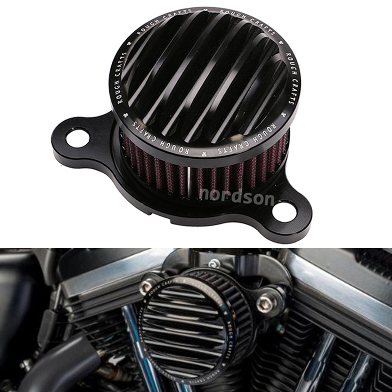 Black Aluminum CNC Crafts Motorcycle Air Cleaner Intake Filter System For Harley Sportster XL 883 1200 2004-14(China (Mainland))