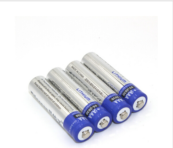 4 pcs/lot ETINESAN 1.5V Lithium li-ion AAA Primary Batteries Battery for camera,radio,toy etc.Good quality,15-year shelf life(China (Mainland))