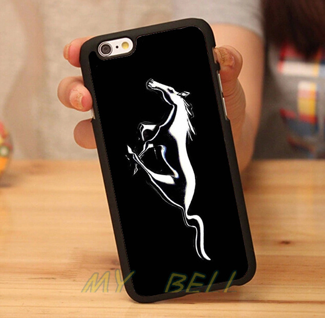 For Ford Mustang car Logo black hard skin mobile phone cases phone accessories for iphone 4s 5s 5c 6 6 plus cases free gifts(China (Mainland))