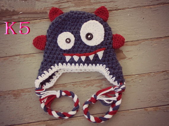 Здесь можно купить  Free shipping children 100% cotton handmade Crochet hat Beanie-CROCHET Monsters Baby Hat  50pcs Free shipping children 100% cotton handmade Crochet hat Beanie-CROCHET Monsters Baby Hat  50pcs Детские товары
