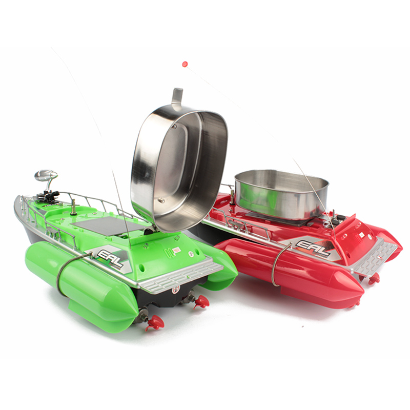 5 HOUR 8 Hour mini RC Bait Fishing Boat 200M remote fish finder boat fishing green and red