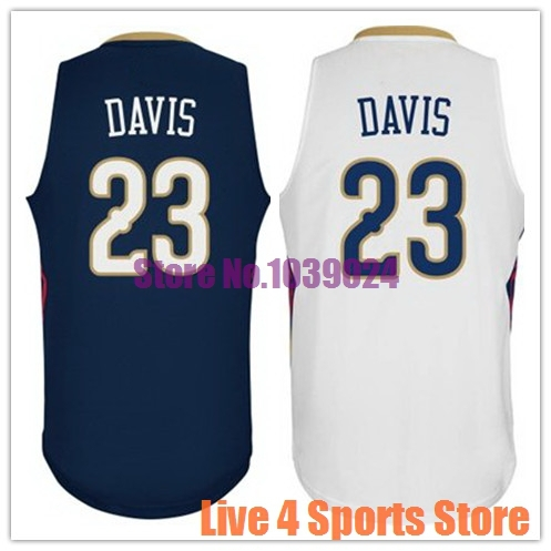 NWT New Orleans #23 Anthony Davis Jersey White Navy Blue Stitched Best Seller For Fans American Basketball Jersey Wholesale Shop(China (Mainland))