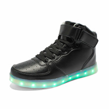 yeezy shoes male&female 7Colors luminous shoes unisex led glow casual shoe men&women fashion USB rechargeable light led shoes(China (Mainland))