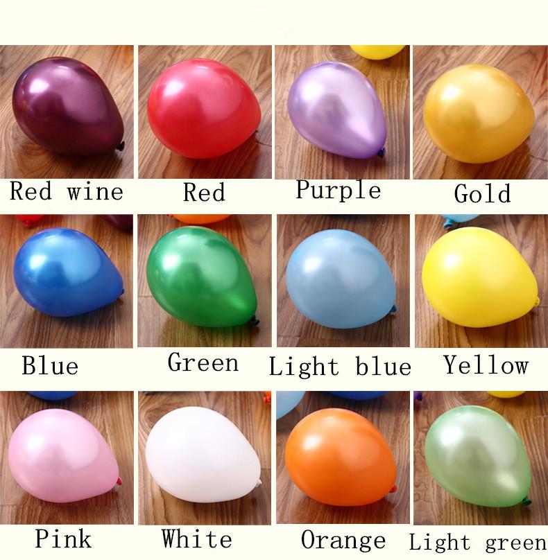 100% Latex Round Orange Balloons 100 pcs/lot 10 Inches 1.8g Inflatable Air Ball Wedding Balloon(China (Mainland))