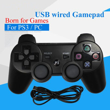 Buy USB Wired Gamepad PS3 controller Dualshock Sony Playstation 3 console game Joystick Joypad PC/Play station 3/PS 3 for $9.38 in AliExpress store