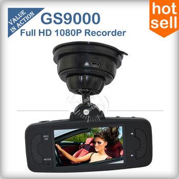 GS9000 Car DVR Recorder Camera Original Ambarella 1080P Full HD 2.7 inch LCD Wide Angle with GPS G-Sensor HDMI AV Out