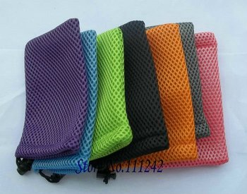 Free shipping stretch knits mobile phone cover pouches mesh bag cases for iphone 4s 5G i9100 i9300 s2 s3 s5830