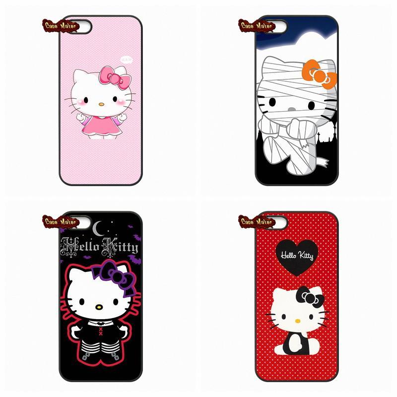 For LG Google Nexus 5 D820 D821 E980 Huawei P6 P7 MINI P8 Lite Honor 3C 6 Mate 8 Cute KT Dots Cartoon Hello Kitty Cover Case(China (Mainland))