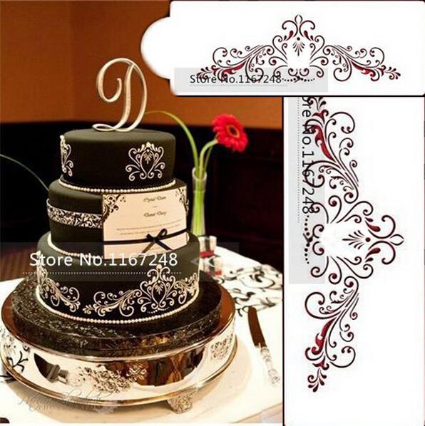 Wedding Cake Design Stencil : Aliexpress.com : 10