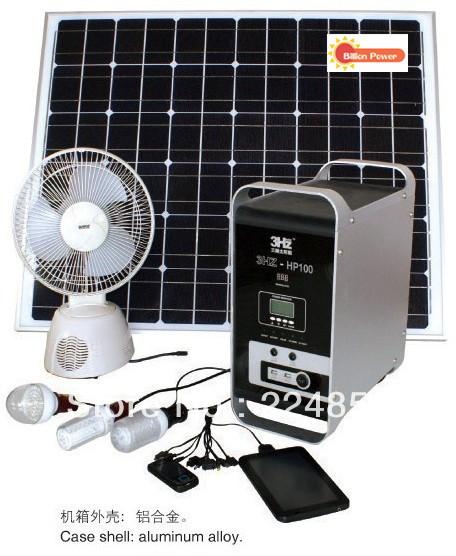 Supply high quality solar portable power system BP-S-HMP 100 ,portable solar generator system(China (Mainland))