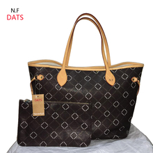 DATS Top quality N Full handbags Mono Canvas women tote Oxidation Real leather fashion Shoulder Bag DHL  Free Delivery