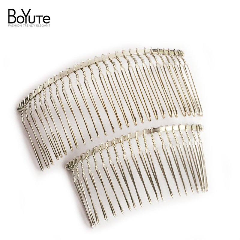 10Pcs Wholesale Vintage Handmade Metal Hair Comb Base White K Plated Women's Diy Hair Jewelry(China (Mainland))