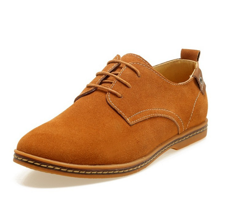 Suede European style genuine leather Shoes Men's oxfords california casual Loafers, sneakers Men Flats shoes Big yard - Online Store 923589 store