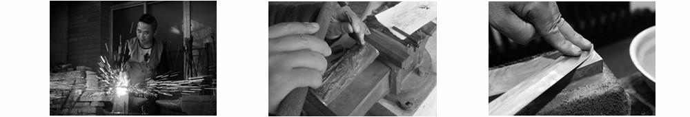 Buy Handmade Samurai Sword Katana Tanto Full Tang Sharp Edge Hunter Knife Carbon Steel cheap
