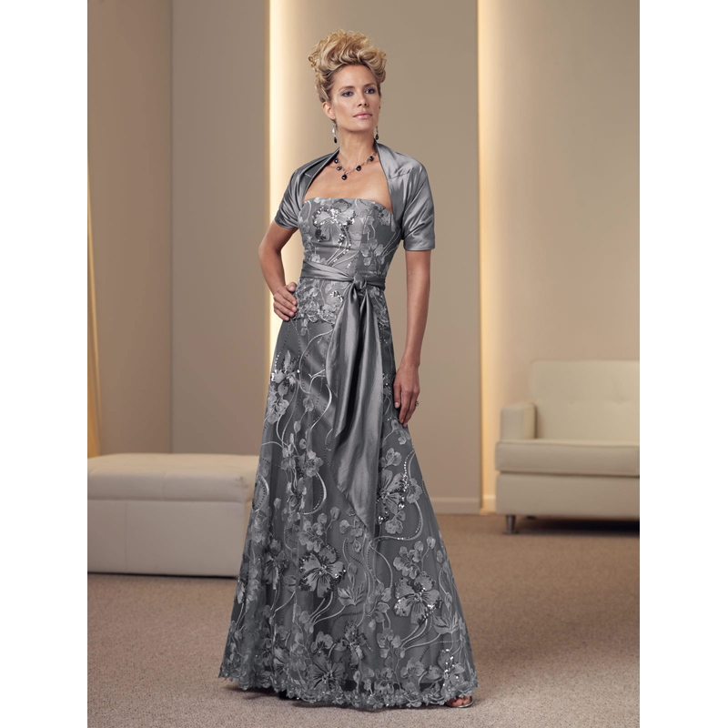 With jacket bolero 2015 mother of bride dress special occasion wedding