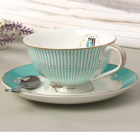 Здесь можно купить  Gift Luxury Vintage European British Style Bone China with Gilt Edge English Afternoon Tea Coffee Cup with Saucer and Spoon 1005  Дом и Сад