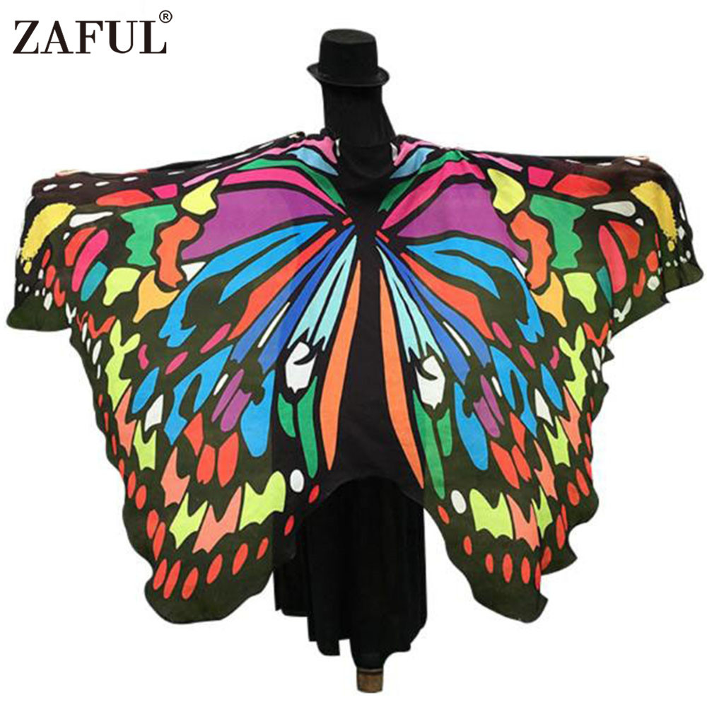 ZAFUL Brand 2017 Women Scarf Shawl Wrap Gifts Butterfly Wing Cape Scarf Peacock Novelty Color Scarves Womens Pashmina Wholesale(China (Mainland))