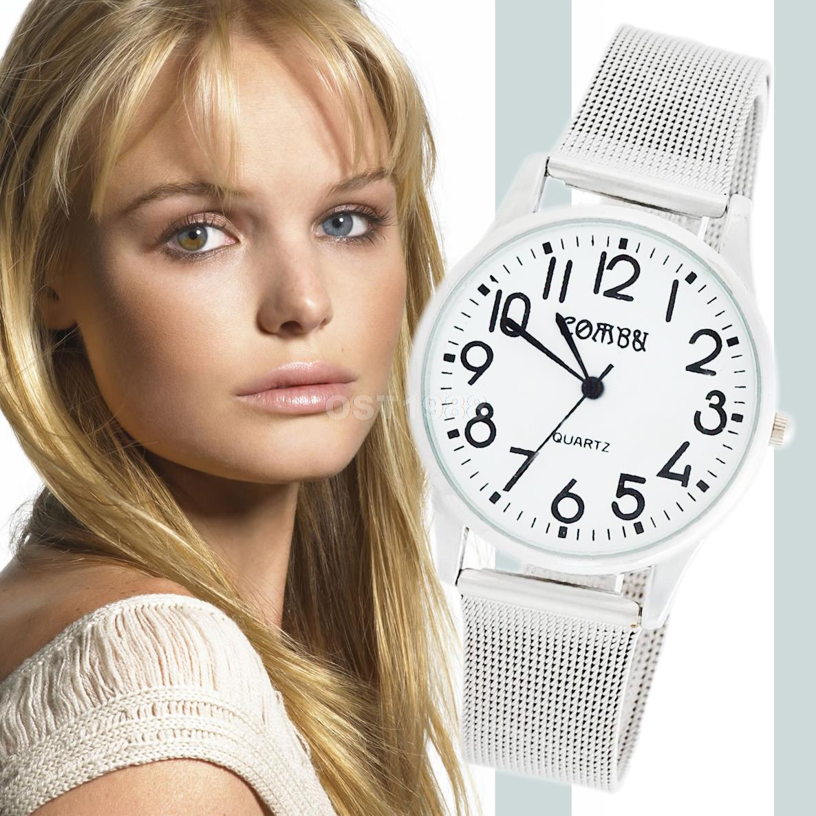 2015 Spring Fashion Casual Simple Quartz Watch Women Watches Silver Stainless Steel Net Web Mesh Band WristWatch relojes mujer(China (Mainland))