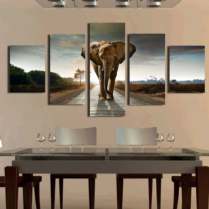 Free Shipping Elephant Morden Abstract Oil Painting Painted Painting Painting Oil On Canvas Home Decoration Living Room(China (Mainland))