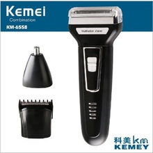Buy Kemei KM 6558 3 1 Twin Blade Reciprocating Three Blades Electric Shaver Travel Use Safe Razor Men Women for $11.99 in AliExpress store