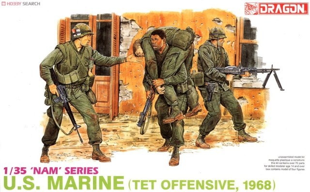 Dragon #3305 1/35 U.S MARINES TET OFFENSIVE 1968 Plastic Model Kit Free Shipping(China (Mainland))