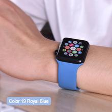 Мягкий силиконовый спортивный ремешок для Apple Watch 4 3 2 1 38 мм 42 мм резиновый ремешок для Iwatch series 4 40 мм 44 мм(China)