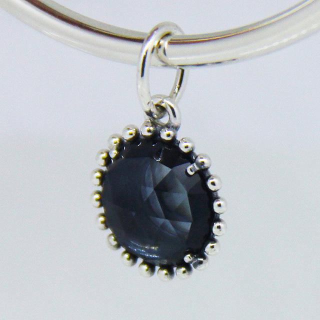 Подходит пандоры прелести ожерелье браслет 100% стерлингового серебра 925 бусины полночь звезда с синий кристалл шарм женщины DIY ювелирных изделий