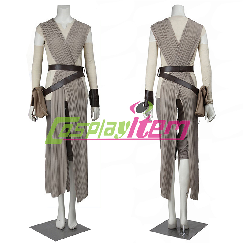 Custom made Star Wars The Force Awakens Rey Dress Cosplay Costume Outfit Одежда и ак�е��уары<br><br><br>Aliexpress