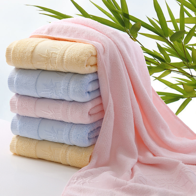 """Solid Color 70*140cm Terry Bamboo Fiber Towel Bath Sold By """"My Home Shop""""(China (Mainland))"""