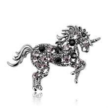 Danbihuabi Penuh Kristal Kuda Bros untuk Wanita dan Pria Setelan Syal Kerah Pin Korsase Hewan Bros Perhiasan Berkualitas Tinggi(China)