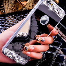 6S Luxury Diamond Glitter Mirror Case For Apple iPhone 6 6s 4.7/Plus/ 5 5s Dual Layer Bling TPU Ultrathin Clear Hard Back Cover(China (Mainland))
