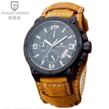 Pagani Design Watches Men Military Leather Quartz Watch Luxury Brand Waterproof Multifunction Sports Wistwatch relogio masculino