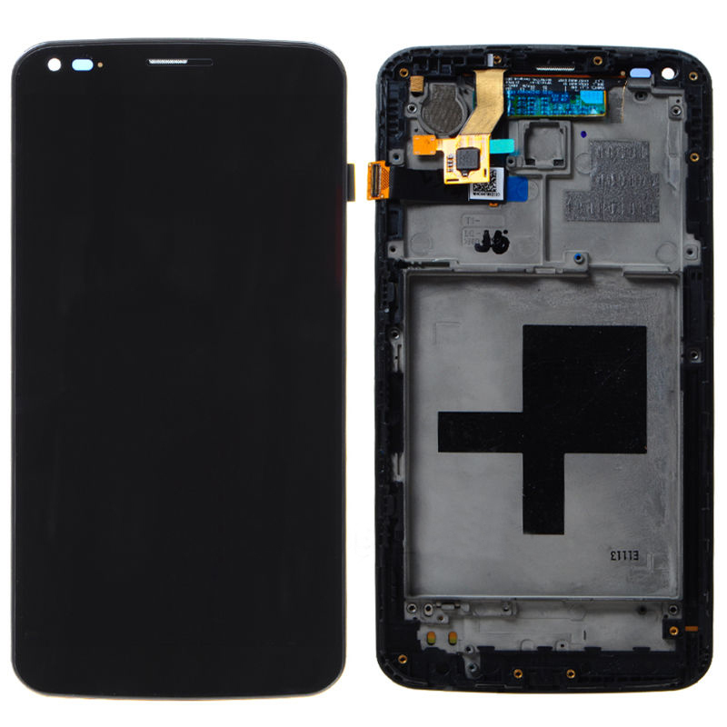 Frame BLACK LCD Display + Touch Screen Digitizer Assembly Replacement For LG G Flex F340 D950 D955 D958 D959 LS995 Free Shipping(China (Mainland))