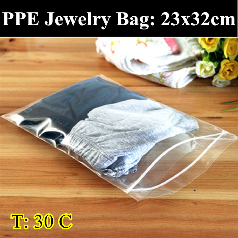 PPE-30pcs/lot 23cm*32cm 0.30mm Thickness Self Adhesive Seal Plastic Pouch,Resealable Retail Bags,Clothes/Underwear Bag(China (Mainland))