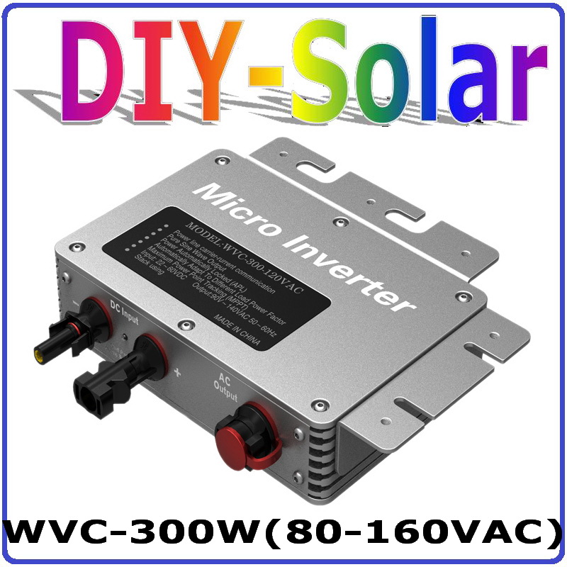 300W Grid Tie Inverter with 6-grade MPPT Function, 22-50VDC to 80-160VAC or 180-260VAC Micro Grid Tie Power Inverter 300W IP65(China (Mainland))