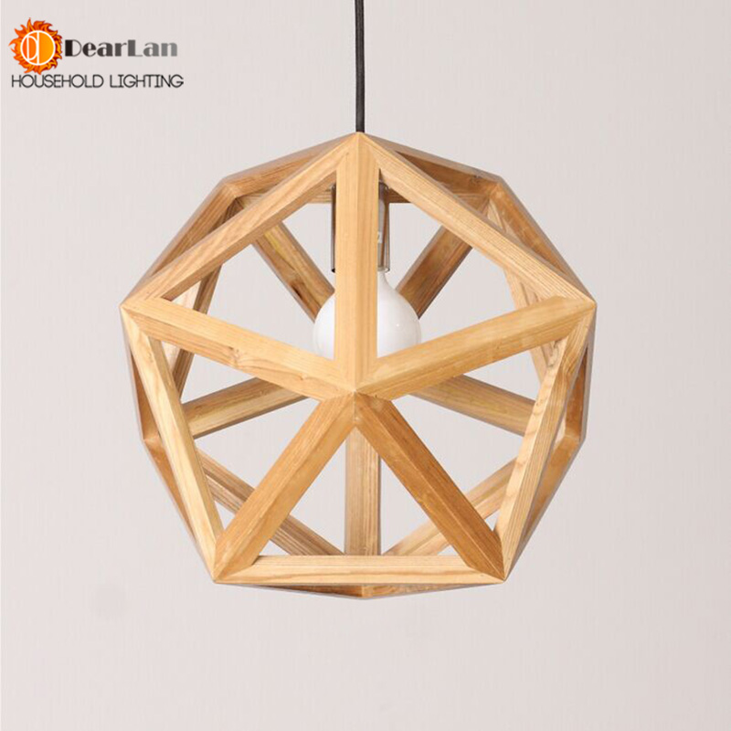 Online buy wholesale wood chandeliers from china wood for Wood pendant chandelier