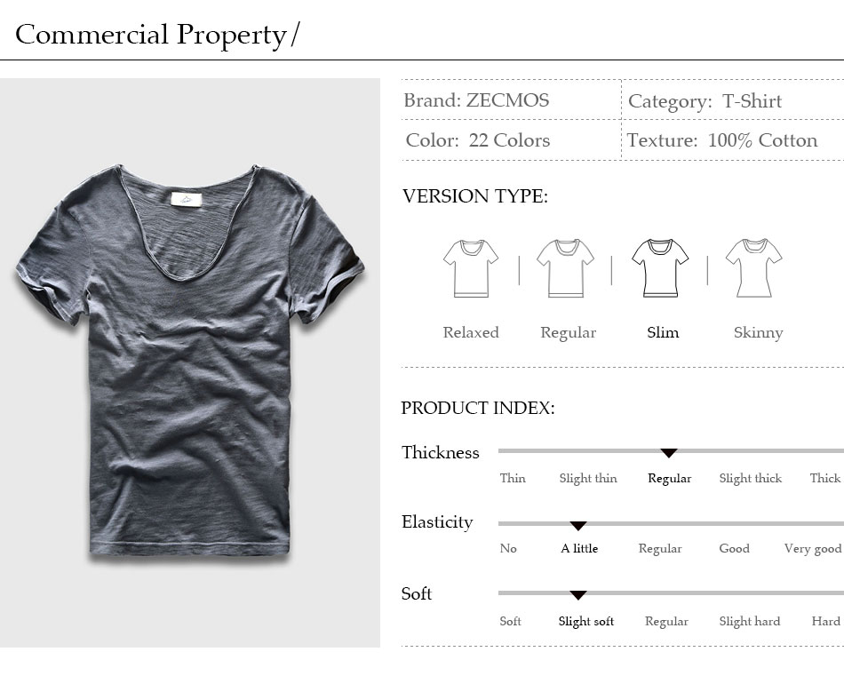 HTB1I8T2PVXXXXc7XVXXq6xXFXXXa - Men Basic T-Shirt Solid Cotton V Neck Slim Fit Male Fashion T Shirts Short Sleeve Top Tees 2017 Brand