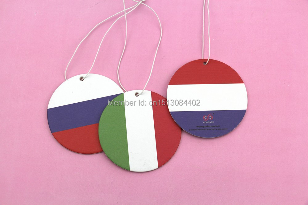 2015 latest design funny flag serie hanging car air freshener,many personality perfumes for selection and free shipping(China (Mainland))