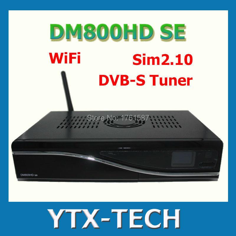 1pcs satellite receiver DM 800 hd se dm 800hd se wifi sim2.10 Linux Enigma 2 400mhz Rev D11 set top box dm800 se DHL Free(China (Mainland))