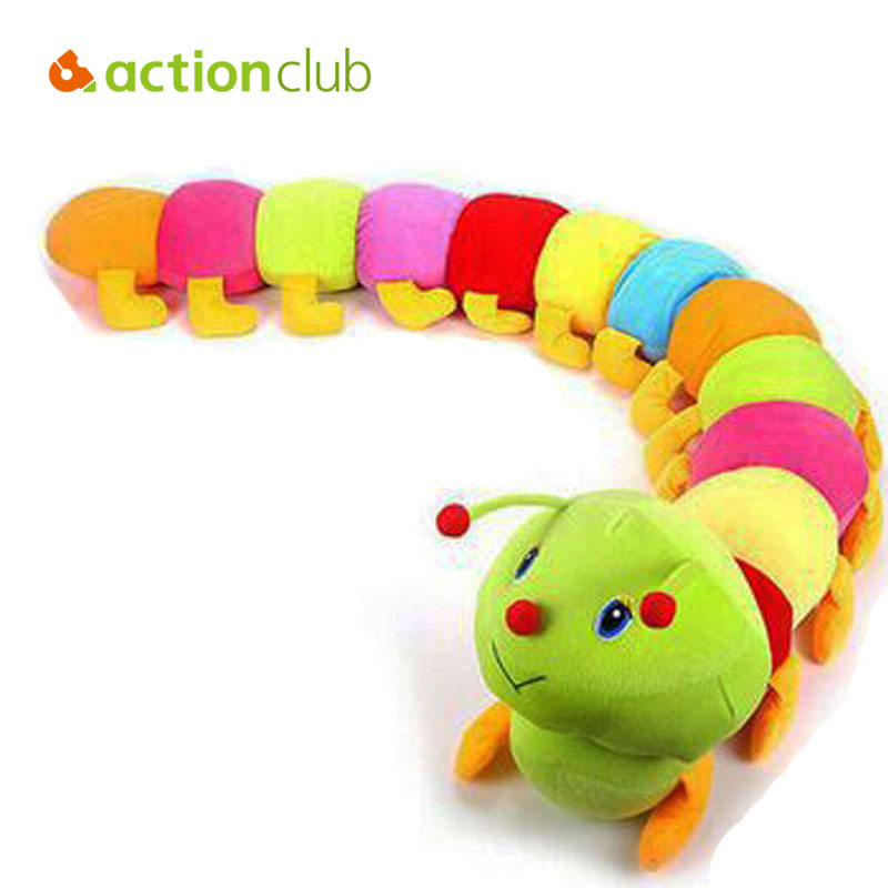 Baby Toys 50cm 1PCS Colorful Caterpillars Millennium Kids Toys Bug Doll Soft Stuffed Toys & Doll Plush Toys for children(China (Mainland))