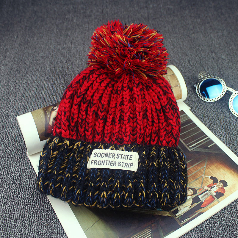 2016 Casual Cotton Acrylic Rushed Solid Adult New Fashion Gorro Winter Knitted Hat Bonnet Cloth Warm Hats For Women Beanies(China (Mainland))