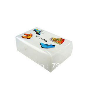 Customized Printing wholesale Handle side open plastic packing shoe box(China (Mainland))