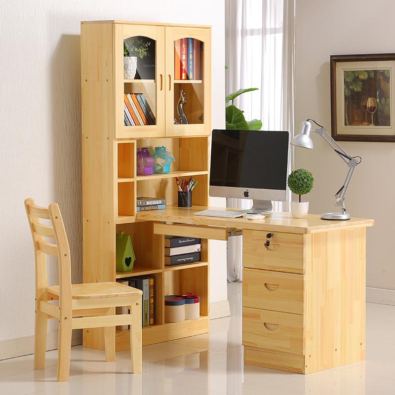 Online kopen wholesale massief houten boekenkast met glazen deuren uit china massief houten - Houten bureau voor kinderen ...