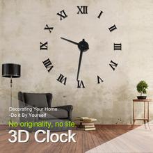 Modern Design DIY 3D Big Wall Clock Home Decor Quartz Horloge Wall Watch Stickers Reloj De Pared Acrylic Mirror Clocks 20 Inch(China (Mainland))
