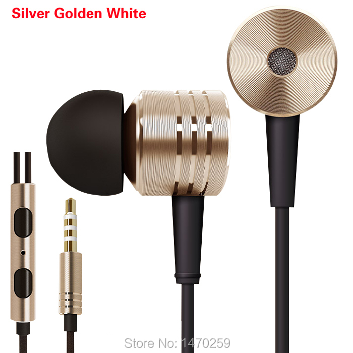 100% New High Quality XIAOMI 3 Piston Headphone Earphone with Mic For XIAOMI MI3 Mi2s 2 Hongmi Red rice Note Phones Samsung HTC(China (Mainland))